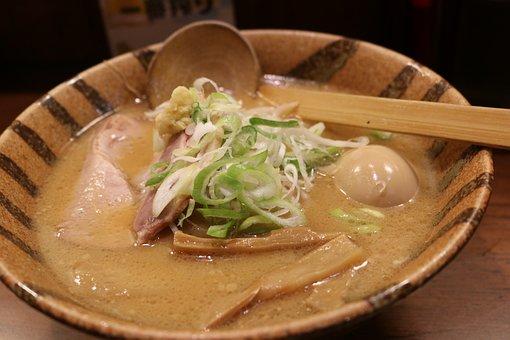 Ramen, Miso, Boiled Egg, Miso Ramen, Cuisine