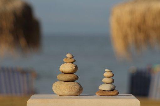 Balance, Harmony, Pebbles, Beach
