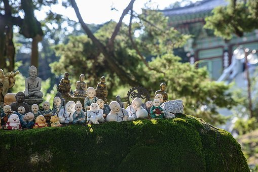 Doll, Copper Squares, Monk, Temple, Republic Of Korea