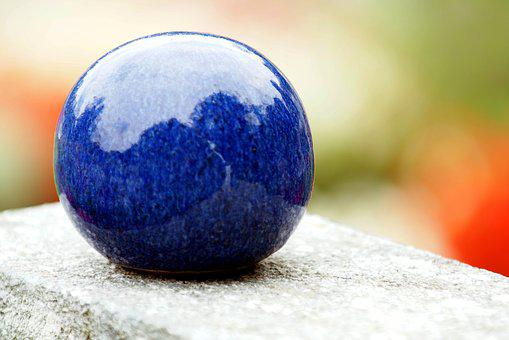 Ball, Blue, Contemplation, Serenity, Relaxation, Silent