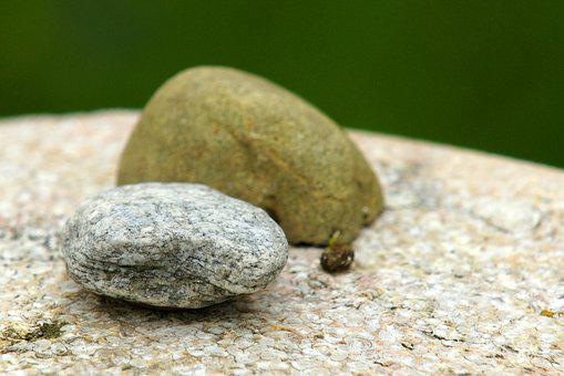 Stones, Contemplation, Serenity, Relaxation, Silent