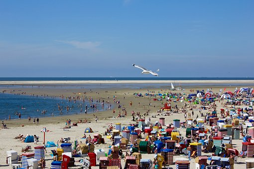Beach, Clubs, Summer, Sand, North Sea, Coast