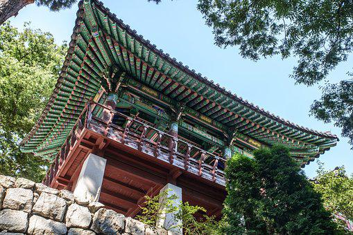 Temple, Section, Republic Of Korea, Traditional Temples