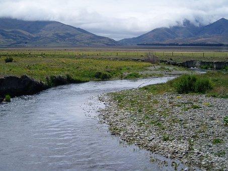 Grays River, River, New, Zealand, Mountain, Pass, Water