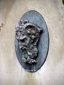 Sculpture, Face, Fountain, Head, Old, Ancient, Antique