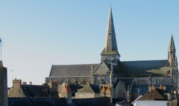 Church, Guérande, Medieval, Bell Tower, Brittany
