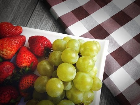 Grapes, Strawberries, Fruit
