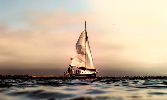 California, Panorama, Sea, Ocean, Pacific, Sailboat