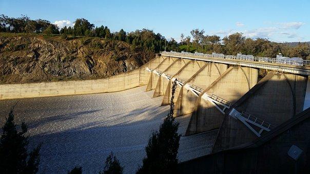 Spillway, Floodgates, Dam, Dam Wall, Burrendong Dam