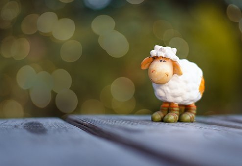 Sheep, Toys, Figure, Bokeh, Collectible, Cute, Funny