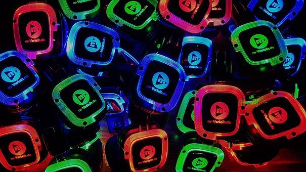 Headphones, Silent Disco, Headphone Party