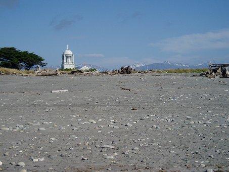 New Zealand, New, Zealand, Church, Hottika, Beach