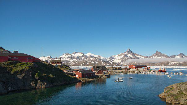 Port, Harbor, Greenland, Mountain, Ice, Summer, Water