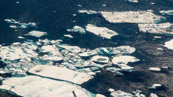 Ice, Iceberg, Aerial, Water, Blue, Cold, Nature