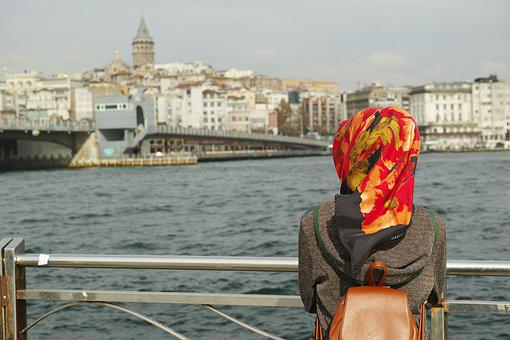 Women's, Single, Only, Landscape, Marine, Istanbul