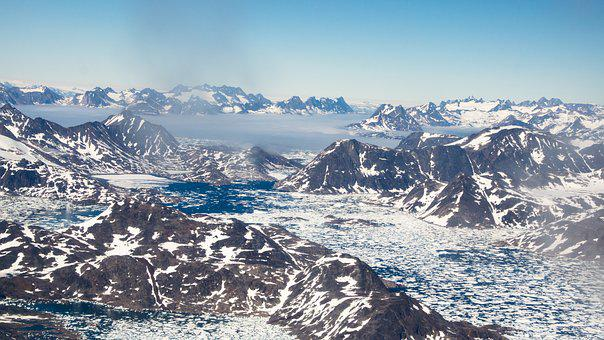 Mountain, Range, Landscape, Nature, Sky, Snow, Summer