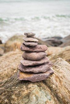 Balance, Stone, Nature, Meditation, Beach, Stacked
