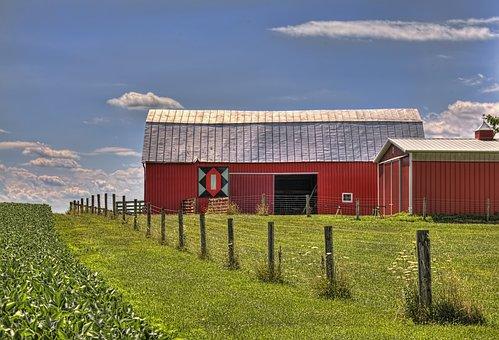 Barn, Rustic, Barns, Ohio, Digital Art, Rural, Scenic