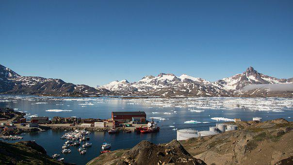 Harbour, Arctic, Marina, Sea, East, Greenland, Ice