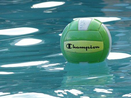 Ball, Swimming Pool, Aquatic, Watersport, Swimming
