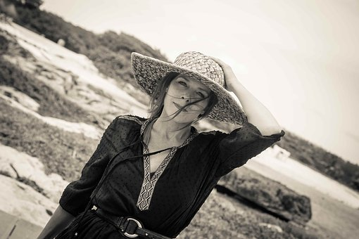 Woman With Straw Hat, Woman At The Beach, Vacations