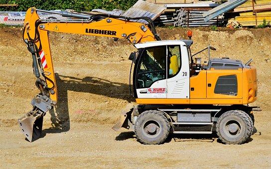 Excavators, Construction Machine, Shovel, Work Machine