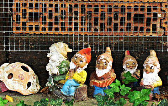 Dwarves, The Gnomes, Figurines, Statues, Ornament