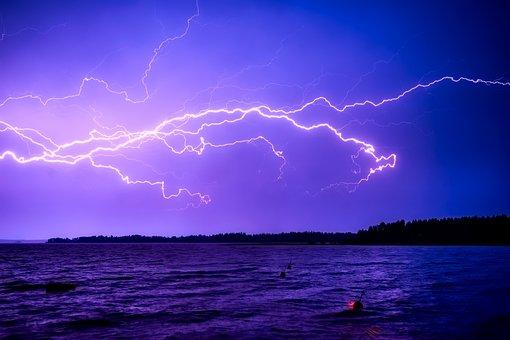 Finland, Storm, Weather, Electrical, Rain, Lightning