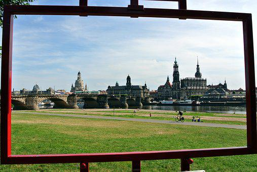 Dresden, Frauenkirche, Panorama, Saxony, Old Town