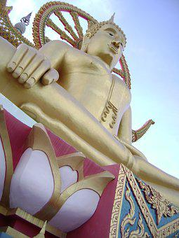 Golden Statue, Buddah, Temple, Buddhism, Buddhist
