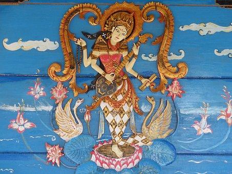 Indonesia, Java, Bali, Hindu, Hinduism, Blue