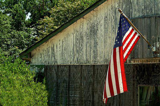 Home, Flag, America, American, Patriotic, House