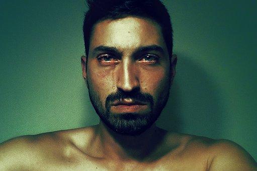 Man, Tear, Emotion, Sadness, Sad Look, Portrait, Person