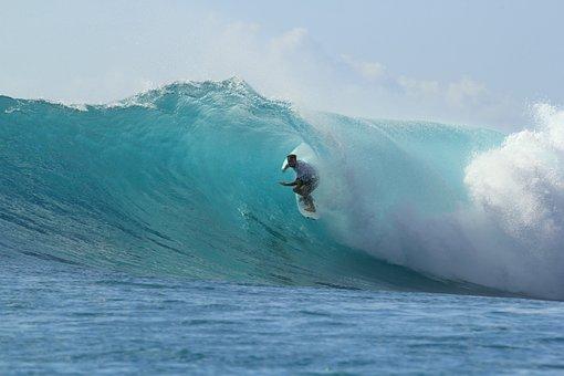 Surfing, Paradise, Summer, Beach, Ocean, Surf, Tropical
