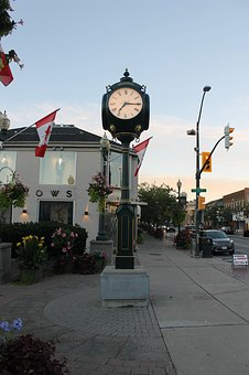 Clock, Old Style, Ontario, Old, Tower, Canada, Canadian