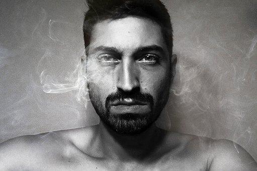 Portrait, Man, Tear, Black And White, Sadness, Look