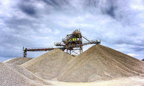 Kieswerk, Open Pit Mining, Raw Materials, Removal