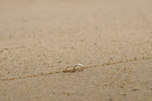 Ring, Sand, Coupling, Wedding, Wedding Ring