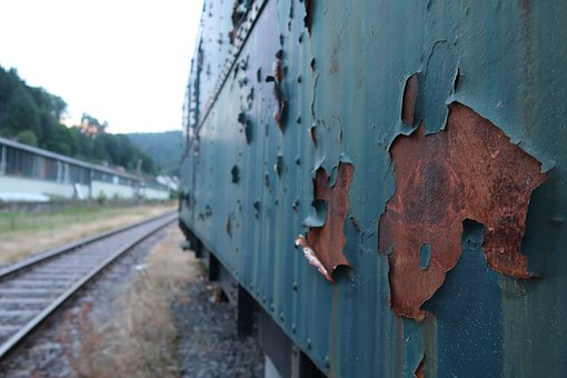 Train, Seemed, Stainless, Old, Railway, Track, Metal