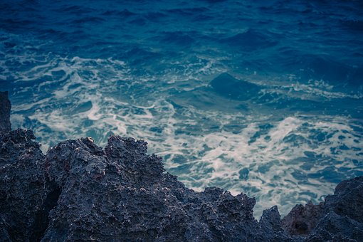 Sea, Coast, Waves, Lava, Stones, Rocks, Spain, Mallorca