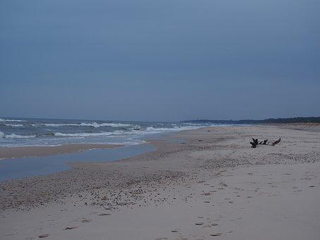 Sea, The Baltic Sea, Water, Beach, Landscapes, Wind