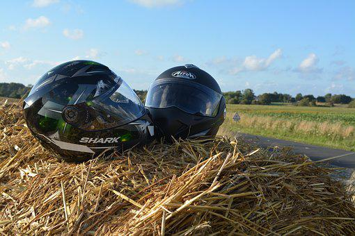 Helmet, Two, Protection, Motorcycle, Biker, Security