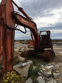 Excavators, Stainless, Old, Construction Machine, Rusty