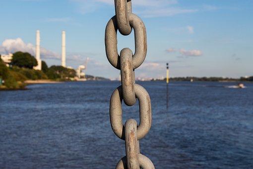 Elbe, Hamburg, Sea, Water, Port, Port City, Elbe Beach