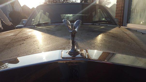 Rolls Royce, Hood Ornament, Luxury Decay