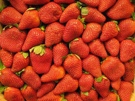 Strawberries, Market, Fruits, Fruit, Food, Berry