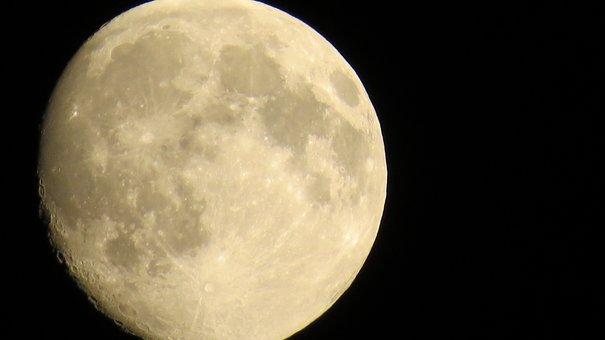 Luna, Moon, Night, Full Moon, Moonlight, Celestial Body