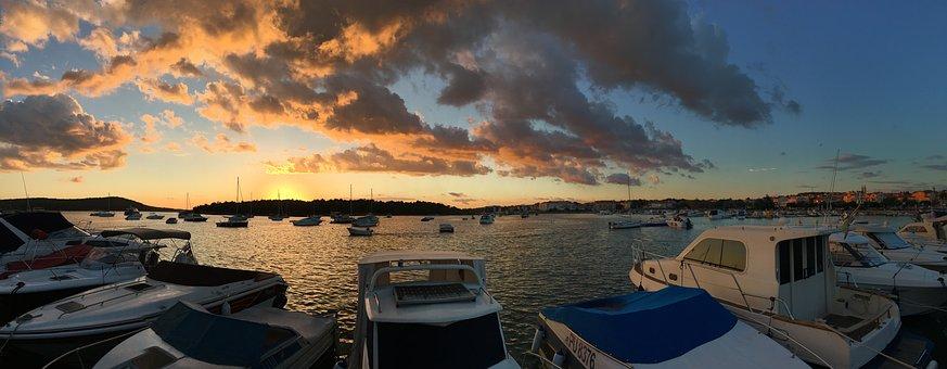 Sea, Port, Boats, Fischer, Motor Boats