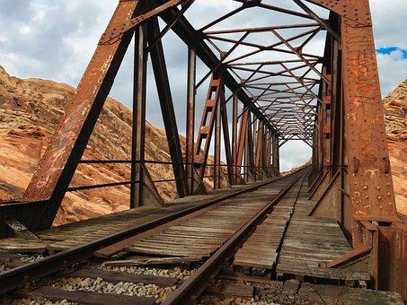 Bridge, Rail, Old, Railway Bridge, Old Bridge