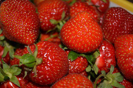 Strawberries, Summer, Red, Fruits, Berries